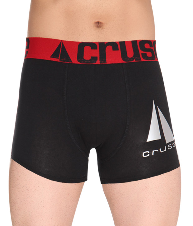 Crusoe Black Cotton and Lycra Briefs