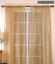 Deco Window Light Brown Sheer Curtain