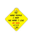 HitPlay Funny Like My Dog Bumper Sticker