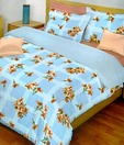 Bombay Dyeing-La Rosa 100% Cotton Bed Sheet with 2 Pillow Covers