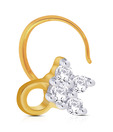 Asmi Four Stone Diamond Gold Nosepin