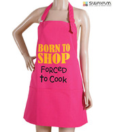 Swayam Pink Casement Cotton Apron
