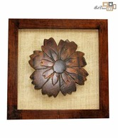 Art Deco Flower Motif Wooden Frame