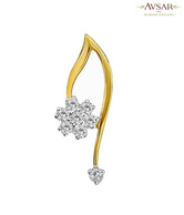 Avsar Gold & Diamond Lovely Flower Pendant