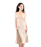 Bwitch Champagne Satin Baby Doll Dress