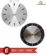 Cosmosgalaxy Classy Round Wall Clock Combo - Buy 1 Get 1 Free