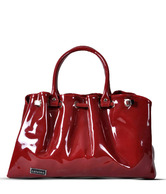Calvino Pretty Maroon Glossy Finish Handbag