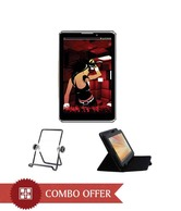 Devante Smart 3D Calling with 7 Inch Leather Cover and Black Tablet Stand
