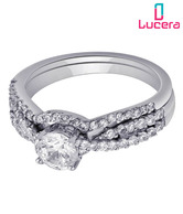 Lucera Lovely CZ Studded Silver Ring