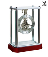 JAZ Portable Enclosed Silver Mantle Piece Clock