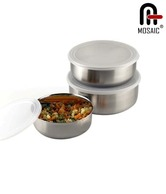 Mosaic Stainless Steel Lid Bowl Set