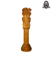 Ratoomal's Wooden Ashoka Pillar Showpiece
