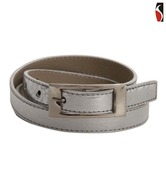 Scarleti Gleaming Silver Self Design Belt