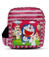 A-maze Pink Doraemon School Bag - 13 Inch