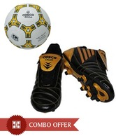 Cosco Cruze Soccer Shoe with Cosco Roma Football