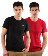 T-Go Black-Red Pack of 2 T-Shirts