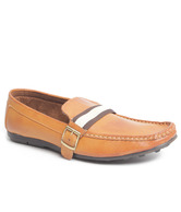 B Berry Trendy Tan Loafers