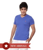 United Colors of Benetton Blue V-Neck T shirt