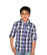 ShopperTree Blue & Black Checkered Shirt