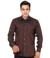 Club Avis USA Brown Leaf print Shirt