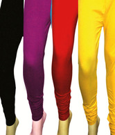 2Day Wine-Yellow-Black-Red Leggings Pack of 4