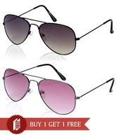 Gansta Fashionable Aviator Sunglasses - Buy 1 Get 1 Free