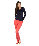 American Swan Red Cotton Jeans