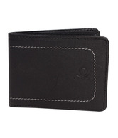United Colors of Benetton Black Contrast Stitched Wallet