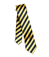 G & G Black & Yellow Diagonal Striped Tie