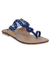 Get Glamr Exquisite Blue Flats