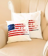 American Swan The Flag Print Cushion Cover- Standard