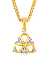 Asmi Diamond Studded Exquisite Floral Gold Pendant