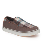 Kittens Brown Checkered Casual Shoes