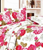 Home Candy Bright Double Bed Sheet