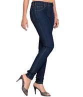 Kira Navy Blue Denim Slim Fit Jeggings