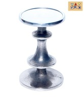 The Decoration Store Aluminium Matte Silver Finish Candle Stand