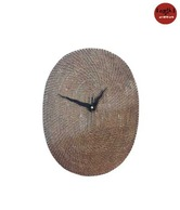 Earth Oval Mat Wall Clock