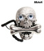 Aashrit Skull Eye Style Landline Phone (Silver)
