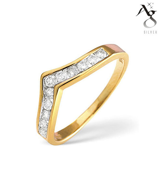 AG 11 Diamonds Solid Band Ring