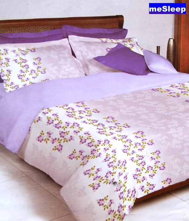 Bombay Dyeing Purple Celsia Single Bed Sheet