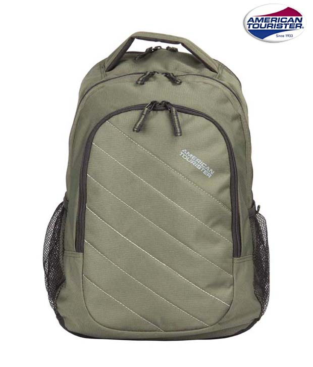 American Tourister Green Backpack