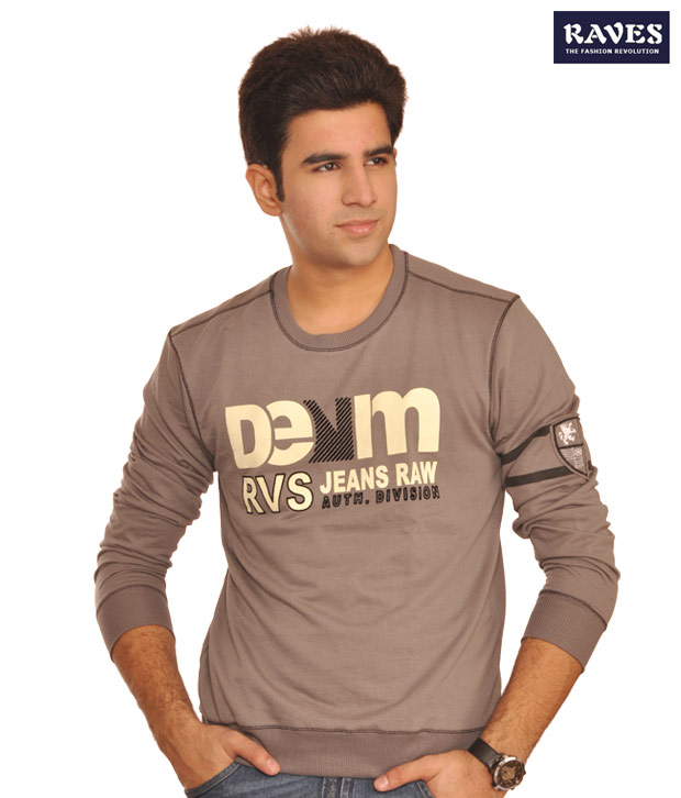 Raves In Deep Grey T-Shirt - Denim-Dgy