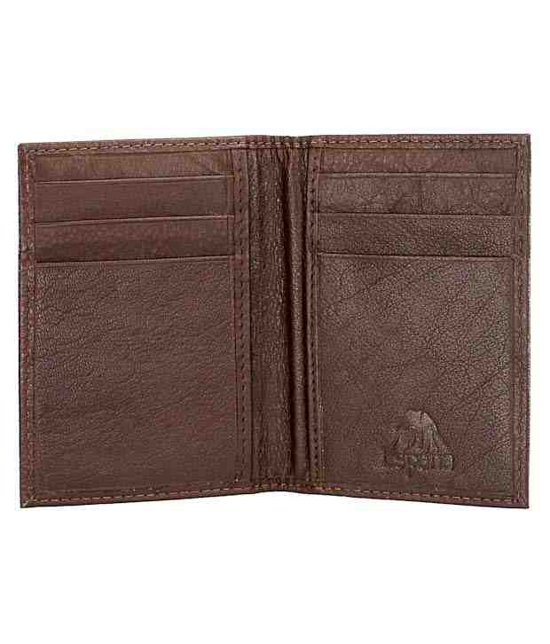 Espana Dark Brown Textured Finish Card Holder
