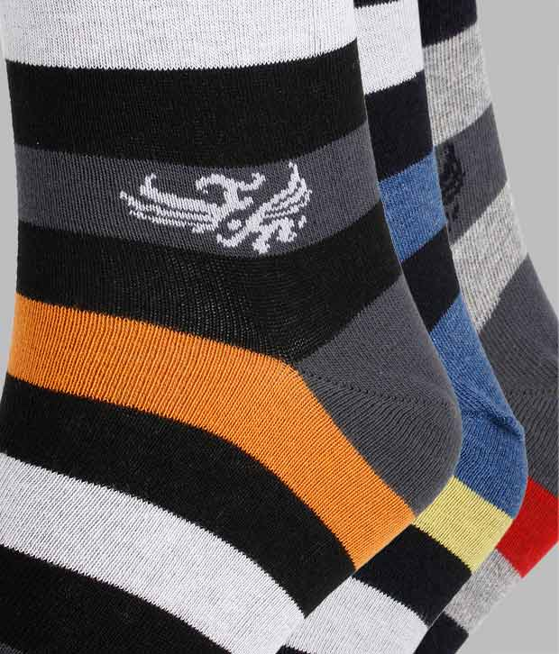 Flying Machine Pack Of 5 Multi Coloured Socks