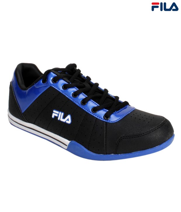 Fila Dynamo Black & Royal Blue Sports Shoes