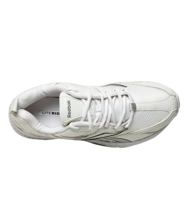 Reebok Advantage Runner White & Silver Sports Shoes