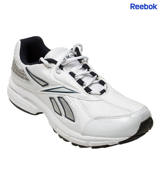 Reebok Energy White & Silver Sports Shoes