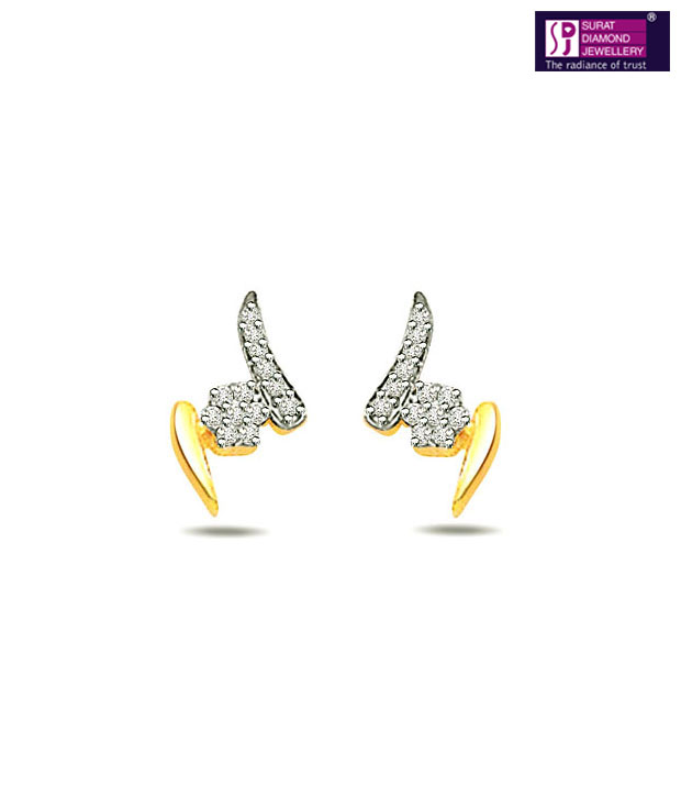 Surat Diamond Elegant 18kt Gold Earrings