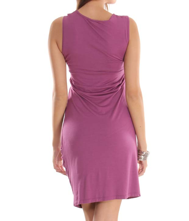 Latin Quarters Peppy Wine Dress
