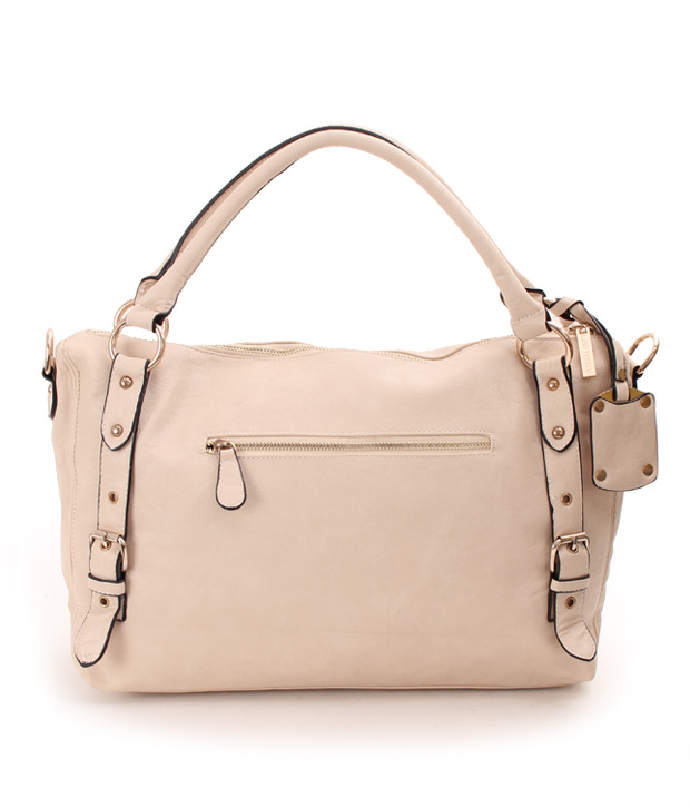 Lino Perros Elegant Cream Stylised Handbag